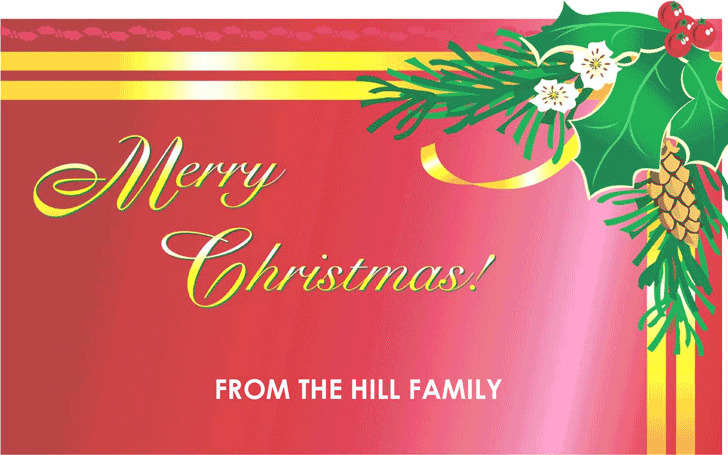 Christmas Card Template 3