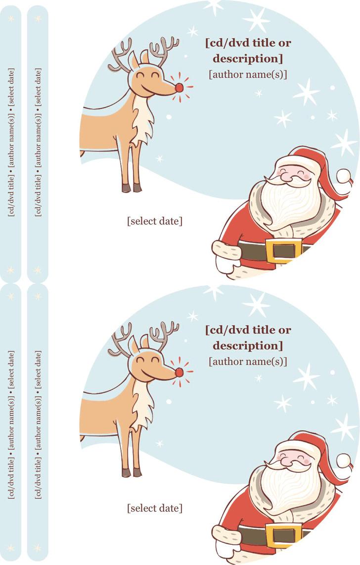 Christmas CD Label Template