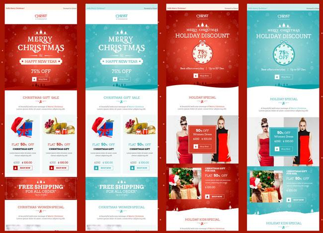 Christmas email newsletter templates download free for Christmas newsletter design ideas