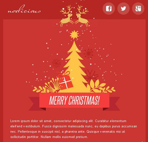 Christmas E-Commerce Responsive Email Template Css Format Download