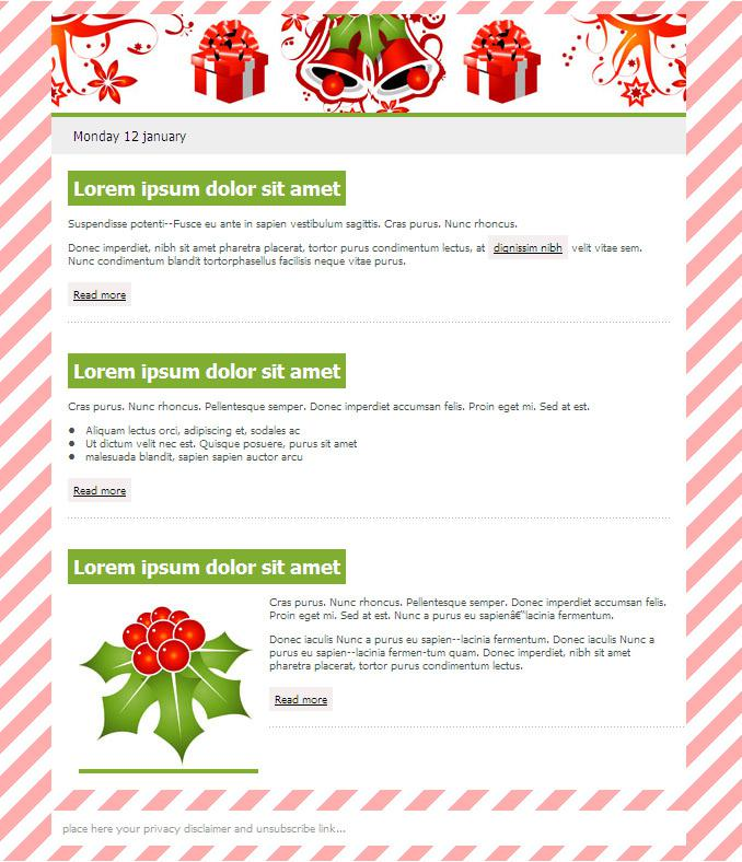 Christmas Email Newsletter Templates For