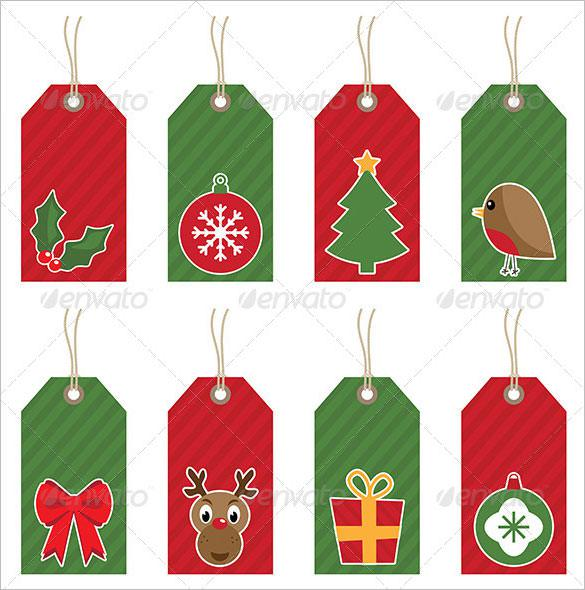 Christmas Gift Tags Ai Illustrator Download