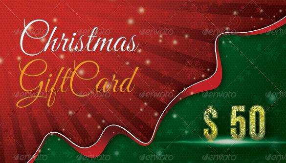 Christmas Holiday Gift Template