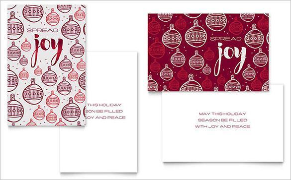 Christmas Joy Greeting Card Template Design