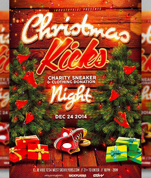 Christmas Kicks Flyer Template PSD Design Format