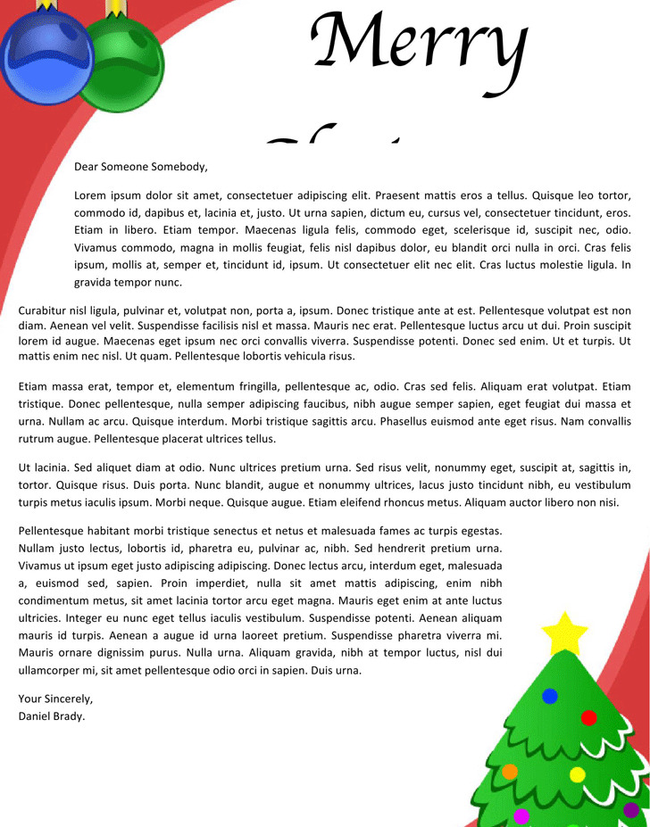 Christmas Letterhead Template | Download Free & Premium Templates ...