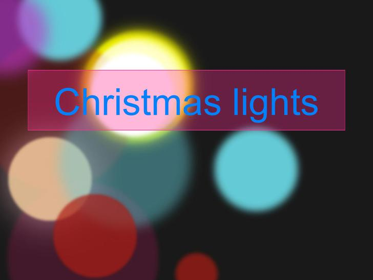 Christmas Lights Template MS Powerpoint Download