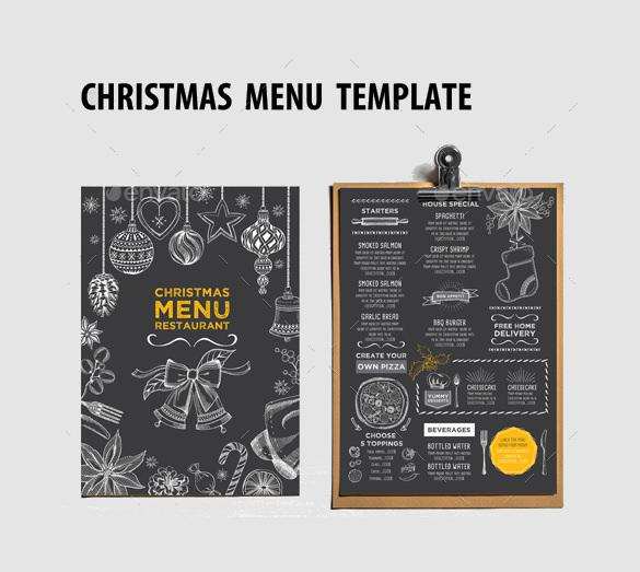 Christmas Menu for Restaurant Template Download