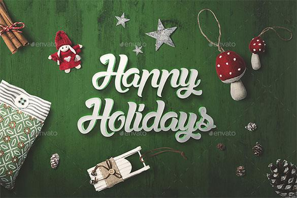 Christmas Mock-Up Creator PSD Format