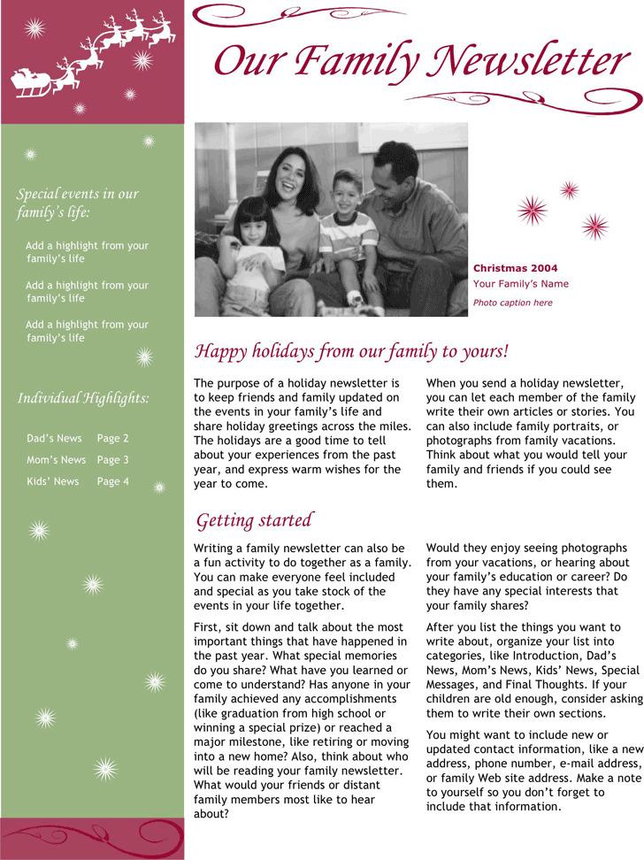 Christmas Newsletter 1