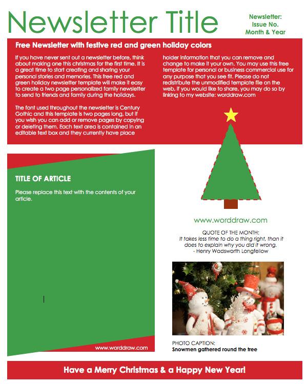 Christmas Newsletter 3