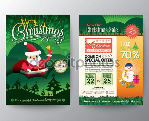 Christmas Sale Brochure Flyer design Layout Template