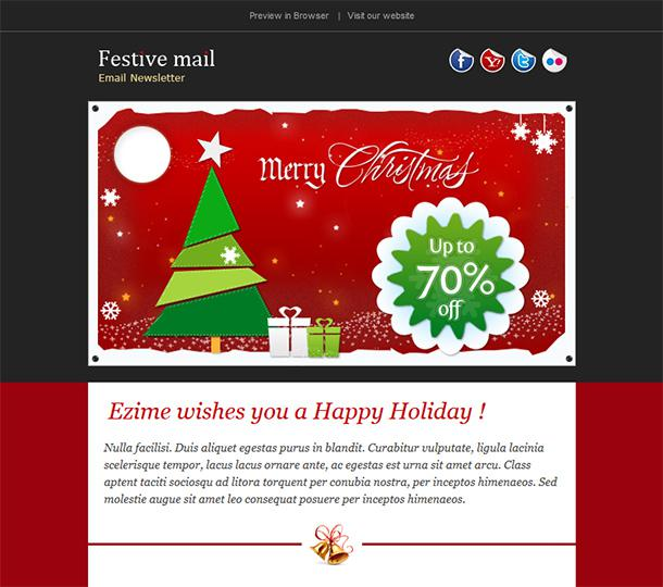 Christmas Shopping Offers e-Commerce Newsletter Template