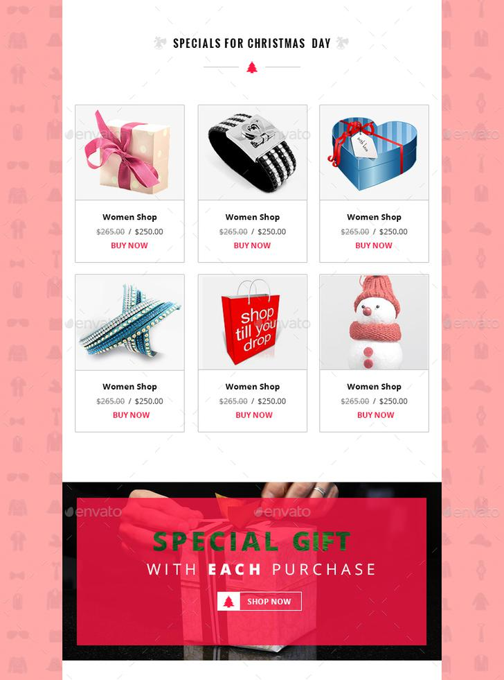 Chryst Christmas E-commerce Newsletter Version PSD Download