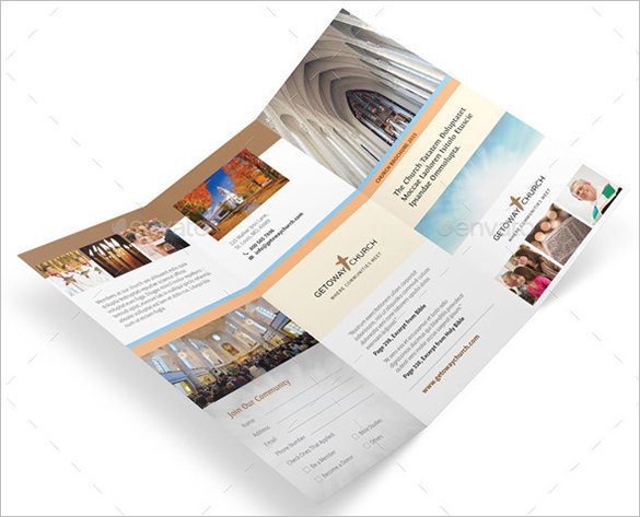 Church EPS Trifold Brochure Illustrator