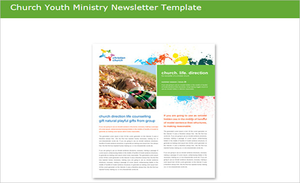Church Youth Ministery Newsletter Template