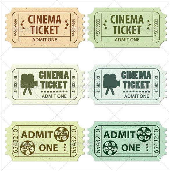 Ticket Templates – Movie Theater Ticket Template