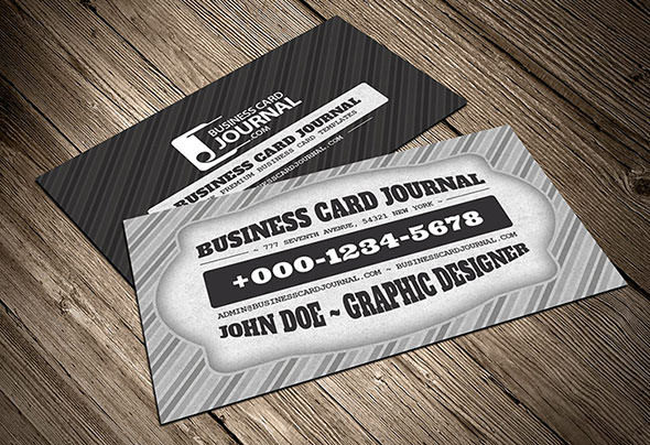 Classic Black & White Retro Business Card Template