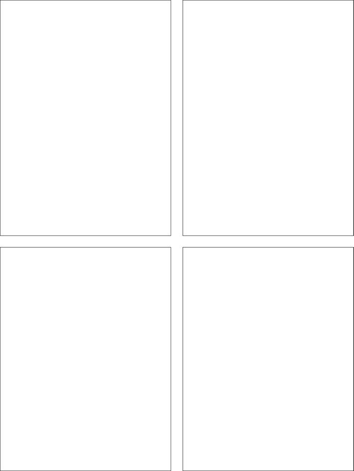 Classic - Comic Strip Templates-Blank Comic - 4 Panels
