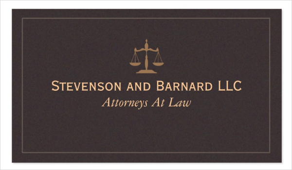 Classic Lawyer Attorney Business Card