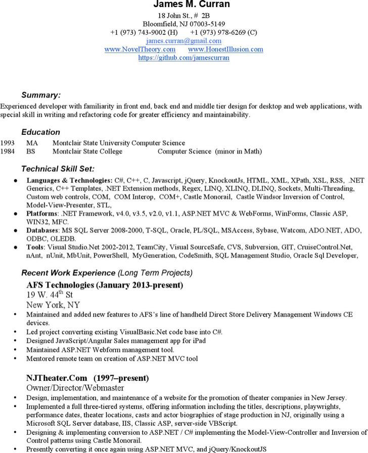 Classic Web Design Resume