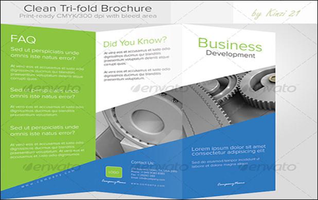 Clean tri-fold brochure1
