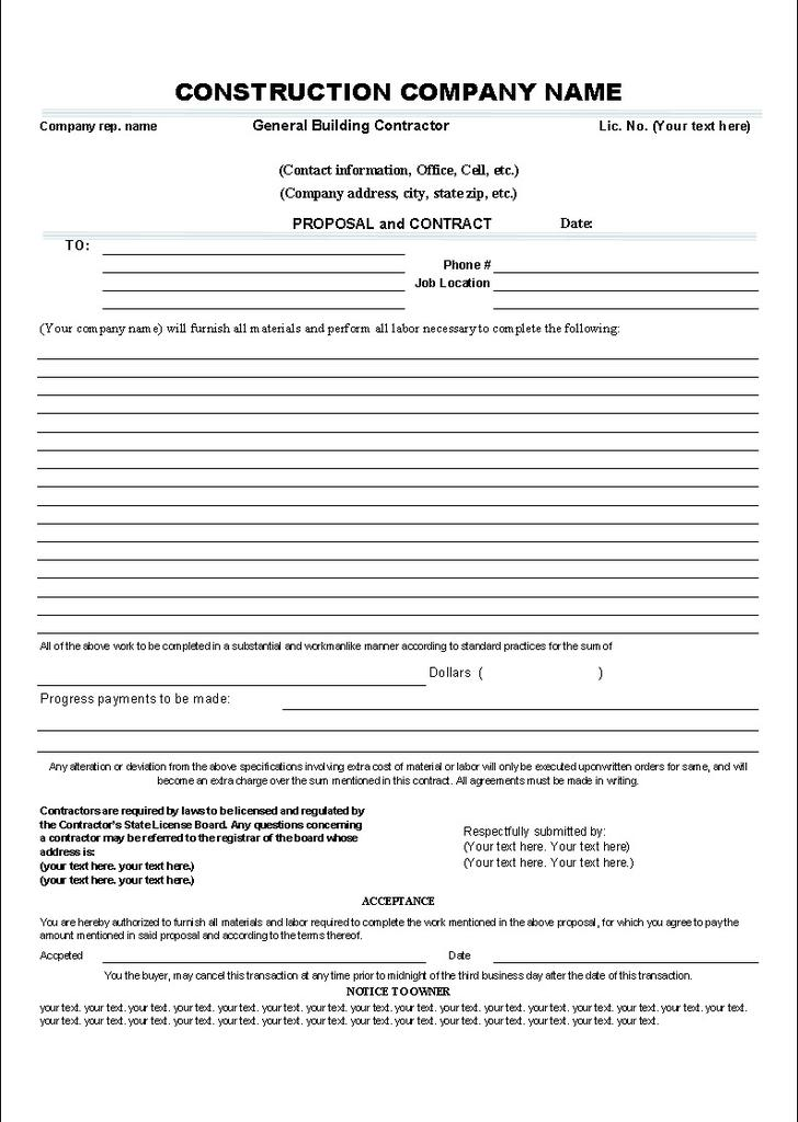 Cleaning Proposal Templates. Free Download Cleaning Contract