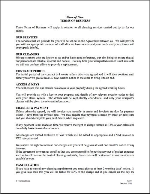 Gym Contract Template Employment Contract Template Building