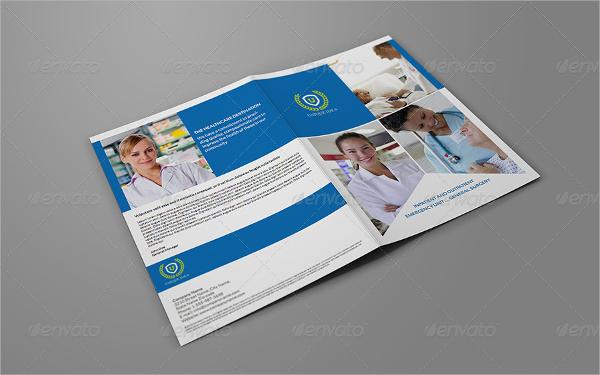 Clinic Bi Fold Brochure Template