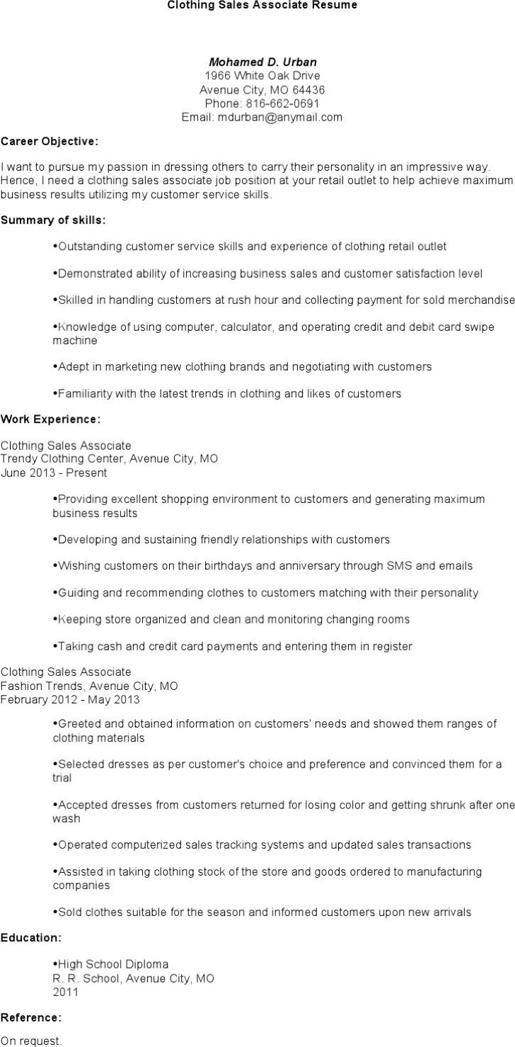 sales associate resume templates free premium