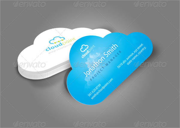 Cloud Shape Die Cut Business Card