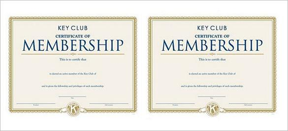 Membership Certificate Template  Download Free  Premium