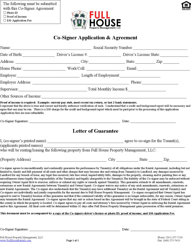 Rental Agreement Letter Templates – Basic Rental Agreement Letter Template