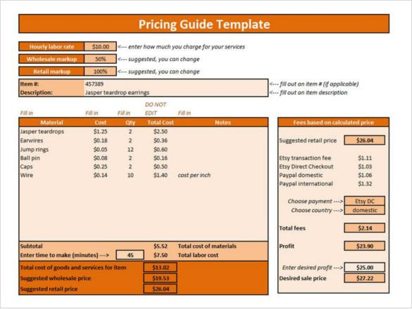 price list template download free amp premium templates
