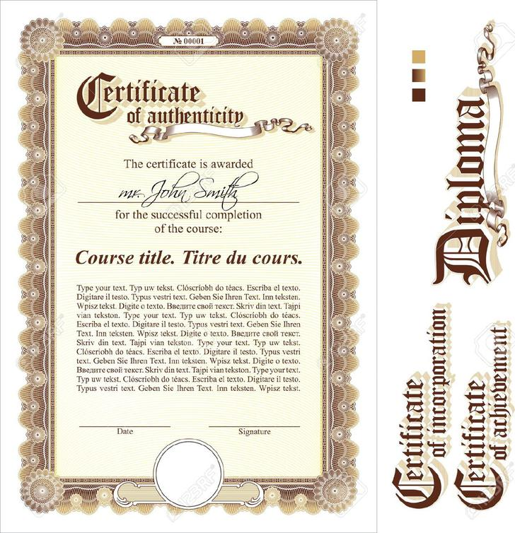 Certificate of authenticity templates download free for Certificate of authenticity word template
