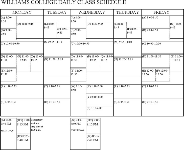 college daily planners