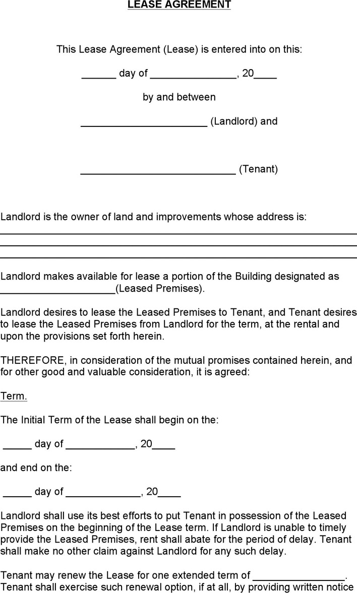 Colorado Commercial Lease Agreement