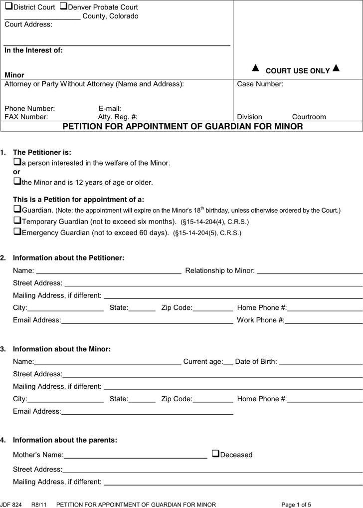 Colorado Guardianship Form 2