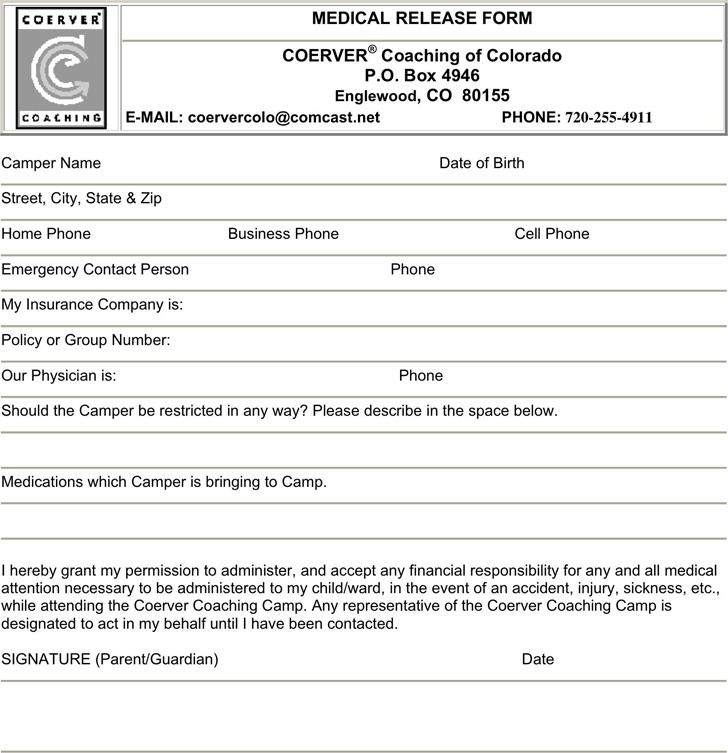 Colorado Medical Release Form 3