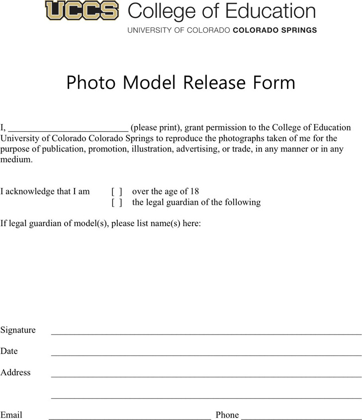 Colorado Model Release Form 4