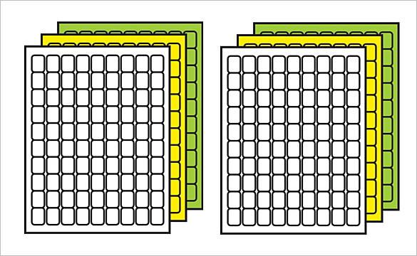 Colored Multipurpose Microsoft Spine Label Template