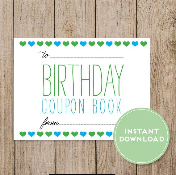 Colorful Birthday Coupon Book Template Download