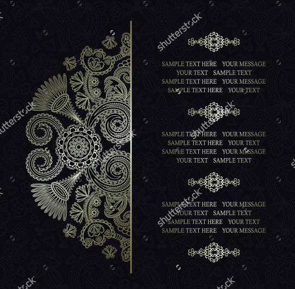 Colorfuly Designed Wedding Invitation Template For Download