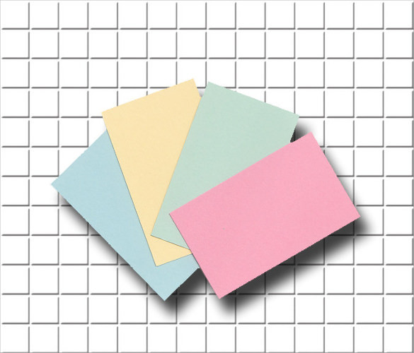 Colourful Blank Business Cards