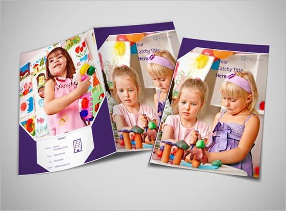 Colourful Child Care Brochure Template