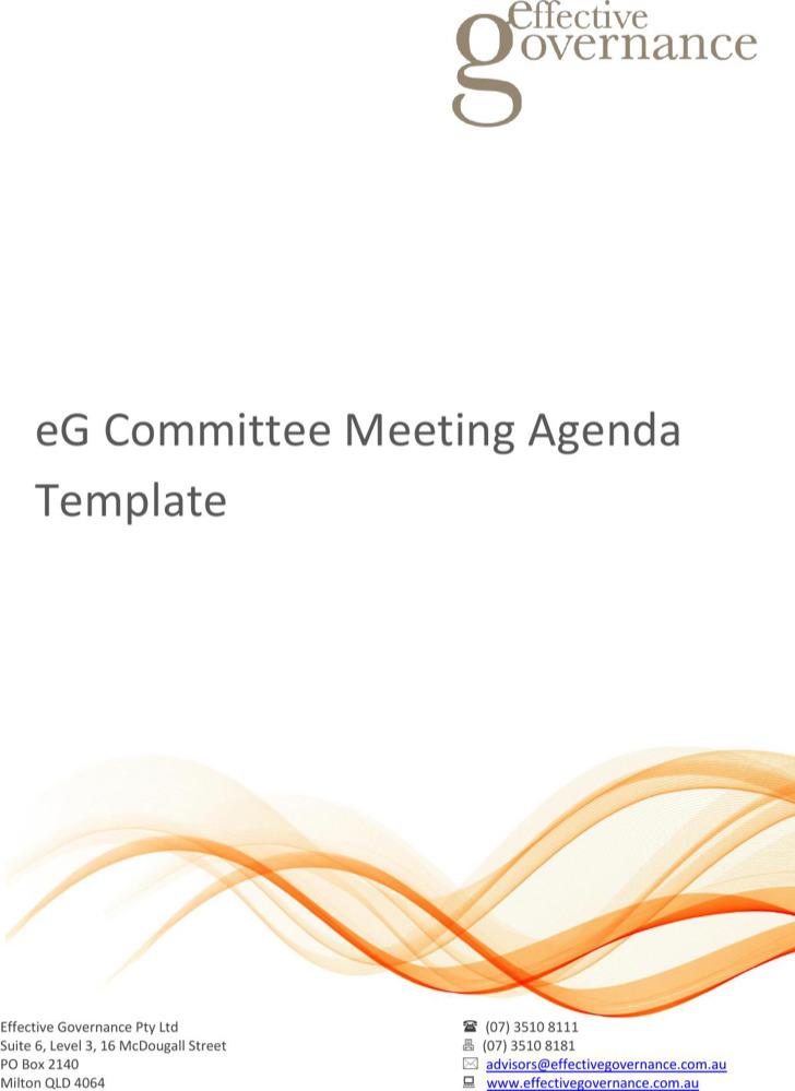 Commitee Meeting Agenda Template