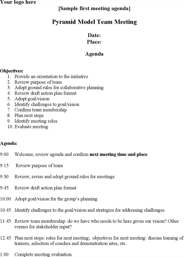 technical meeting agenda template