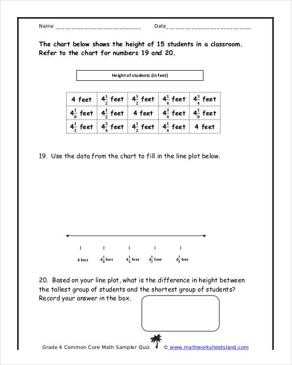 Common Core Math Sheet Free PDF Format Template Download