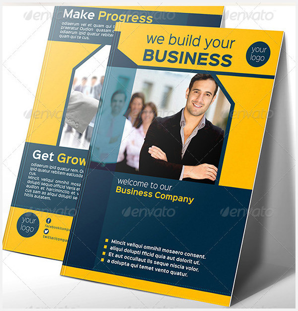 Company Bi-Fold Brochure Template vol 1
