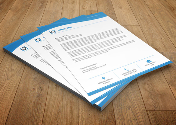 Company Letterhead Design Sample Template
